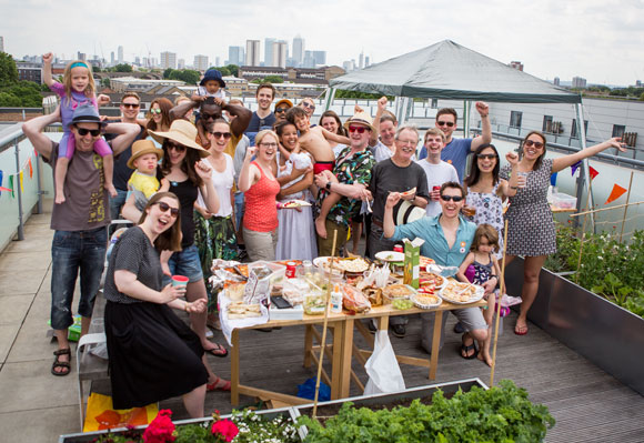 A Big Lunch on a London rooftop