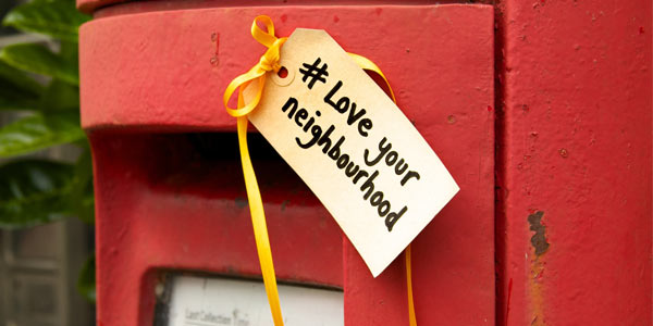 Post box with hanging gift tag