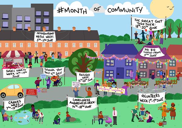 Month of Community Street Scene